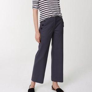 Ann Taylor Wide Leg, Crop Sailor Pants - NWT -12